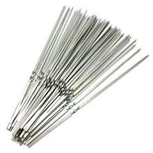 Stainless steel flat barbeque stick bbq skewers kebab 100pcs/lot