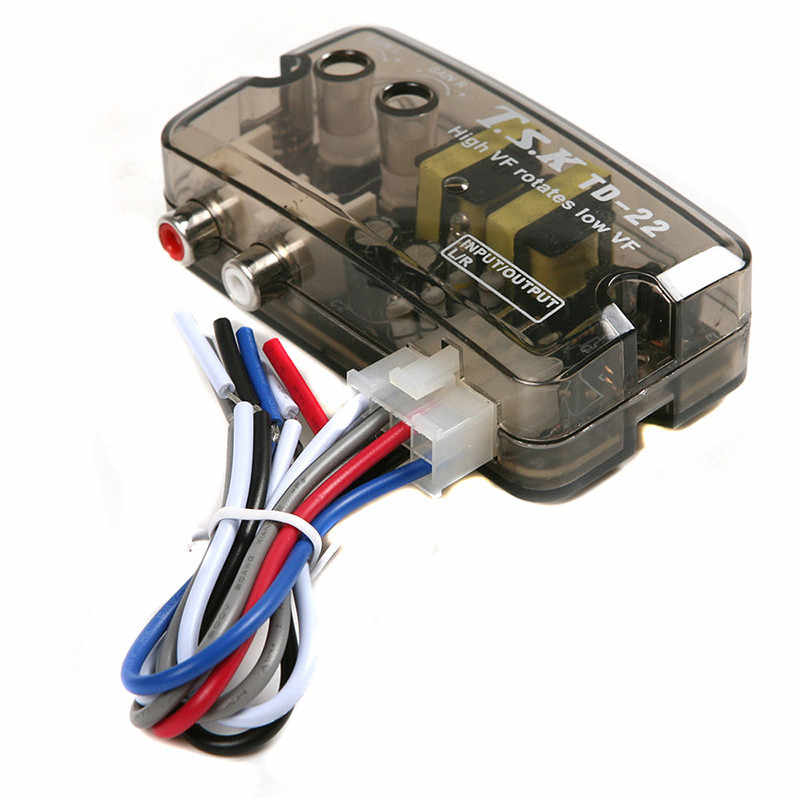 Hoge Kwaliteit Auto Audio Vertraging Functie Speaker Level Converter Transducer Hi-Low Car Audio & Video Td 22