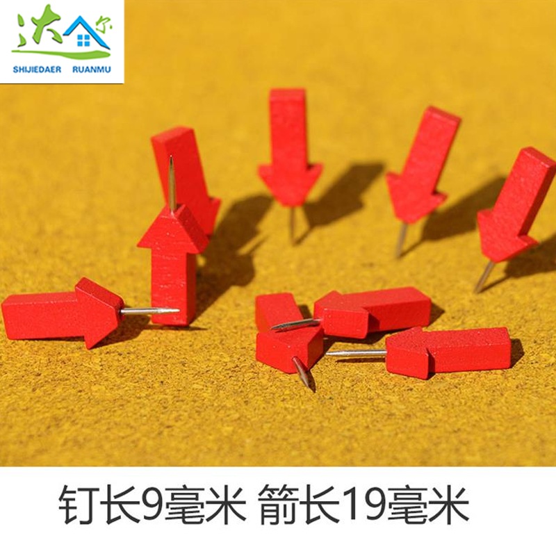 20PCS Wood Thumbtack Arrow Thumbtack Nail Cork Pushpin Photo Wall