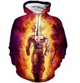 Newest Style Anime Dragon Ball Z Super Saiyan Sweatshirts Cool Goku Hoodies Women Men Long Sleeve Outerwear Hooded Sweatshirt