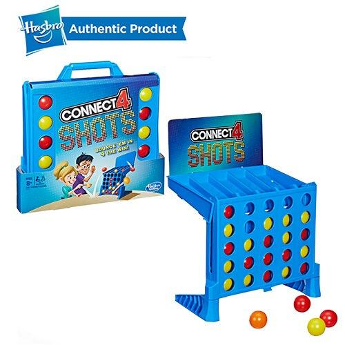 Hasbro Connect 4 coups jeu Cool Battle Board Team Building amusant jeux d'école pour les enfants 8 et plus bon jouet pour les enfants d'âge préscolaire