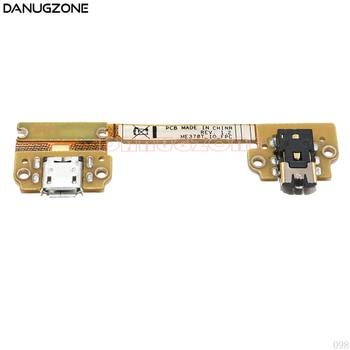 Puerto de carga USB conector de conector enchufe Cable de carga flexible + conector de Audio para ASUS Google Nexus 7 ME370T