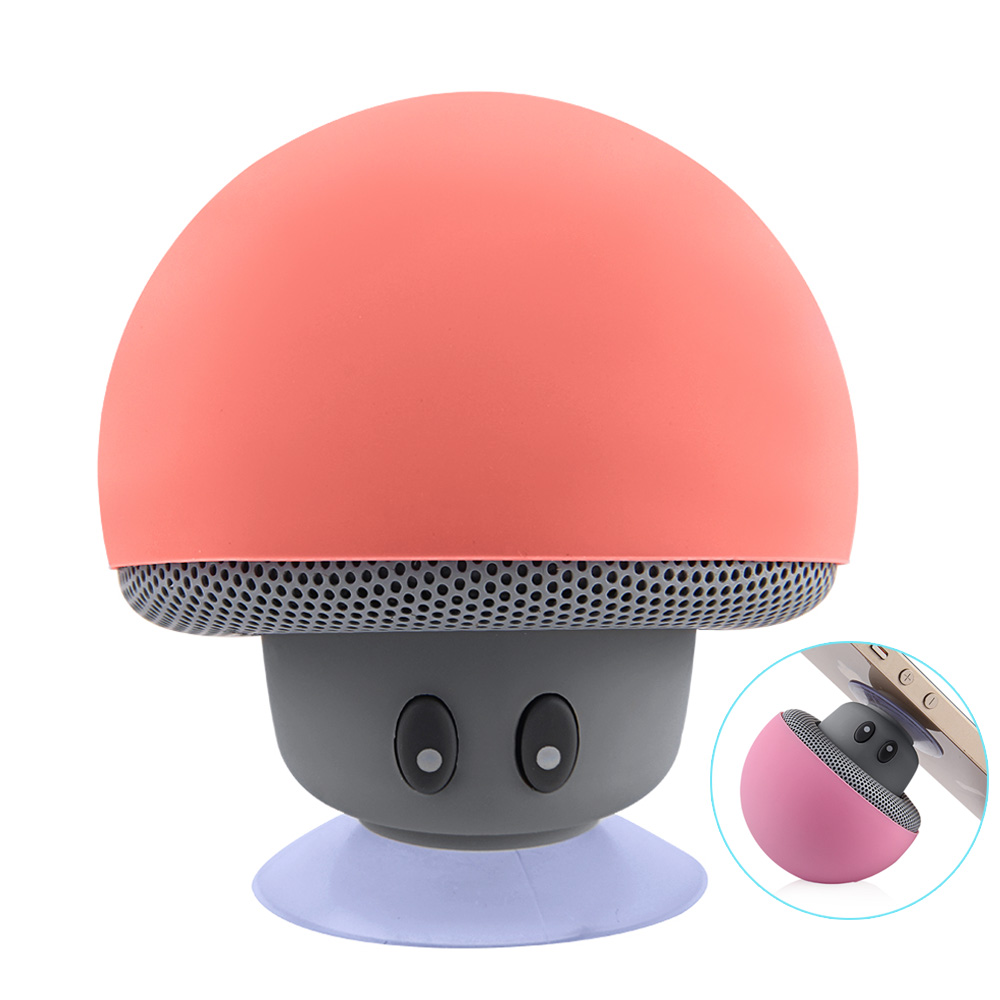 EASYIDEA Bluetooth Speaker Wireless Waterproof Speakers Bluetooth Portable Mushroom HiFi Stereo Music Speaker With Mic For Phone remax rb m6 desktop bluetooth4 0 speaker portable wireless mic stereo bass surrounded sound nfc fm hifi for phone laptop tablet