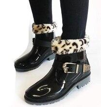Весна и осень Для женщин дождь Сапоги и ботинки для девочек с Носки для девочек, Мартин Стиль водонепроницаемая обувь, slip-на с блестками модные резиновые галоши