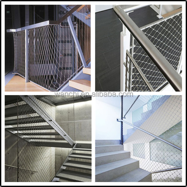flexible stainless steel rope mesh/stainless steel wire rope mesh ...
