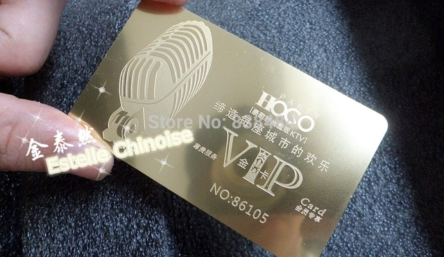 Haute Qualite Metal VIP Carte De Membre Credit Recharge Creative Or Personnalise Haut