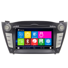 Car DVD Player For Hyundai IX35 Tucson 2009-2014 Radio Navigation BT Systemcar multimedia Steering Wheel Control USB RDS Freemap