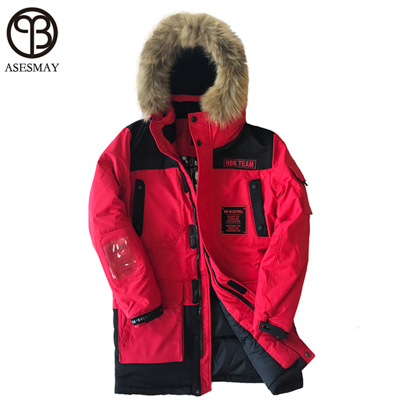 Asesmay Brand 2017 Winter Down Jacket Men Winter Jackets Thick Warm Coats Hooded Plus Size Leisure Wellensteyn Coat Snow Parkas
