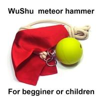 Wushu için meteor çekiç acemi veya çocuk Çin kung fu katı lastik top