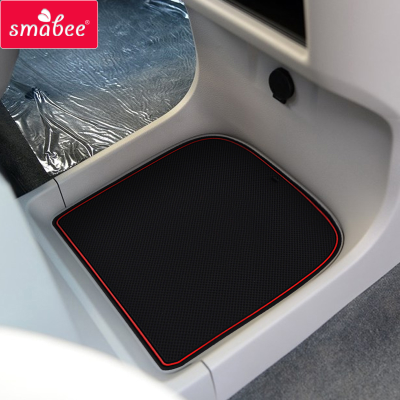 smabee car Door groove mat for 2014-2016 toyota Sienna Anti slip mat Gate slot pad Non-slip mats Car decoration vehicle car anti slip mat pad black 19 x 14cm