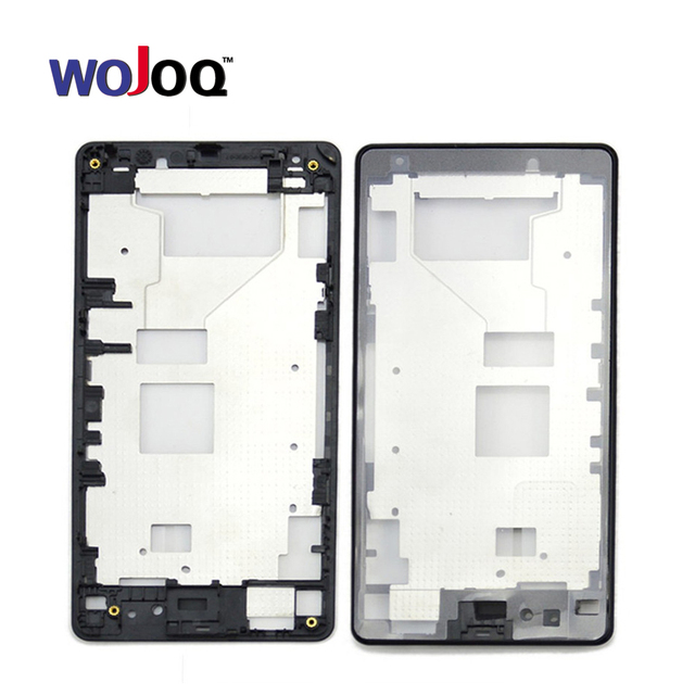 WOJOQ New Front Middle Frame Bezel Battery Back housing Cover for Sony Z1 Compact mini D5503 Replacement