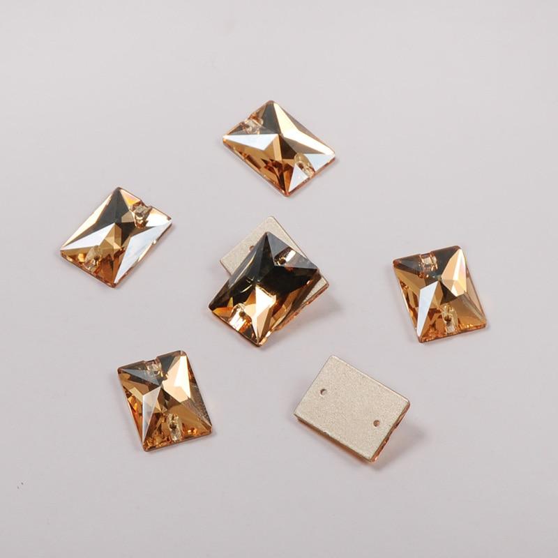 3250 Rectangle 13x18mm 18x25mm 001GSHA Crystal Golden shadow Rhinestones For textil Garment Clothes Decoration