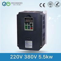 VFD инверторы переменного тока 5.5kw двигателя Вход Напряжение 220 В Выходное напряжение 380 В частотно регулируемый привод бесплатная доставка