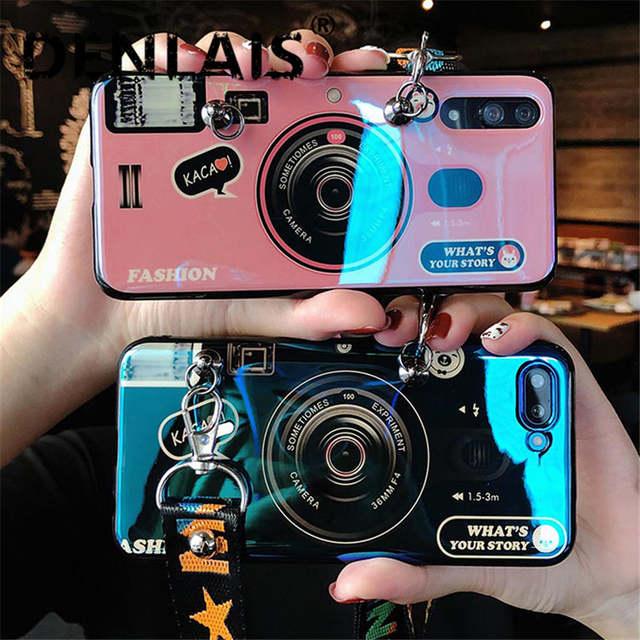 big sale 71bf9 28ec6 Retro Camera Case For Huawei P20 Lite Nova 3e Case Fashion 3D Lanyard Neck  Strap Silicone Phone Case For Huawei P9 P10 P20 Pro