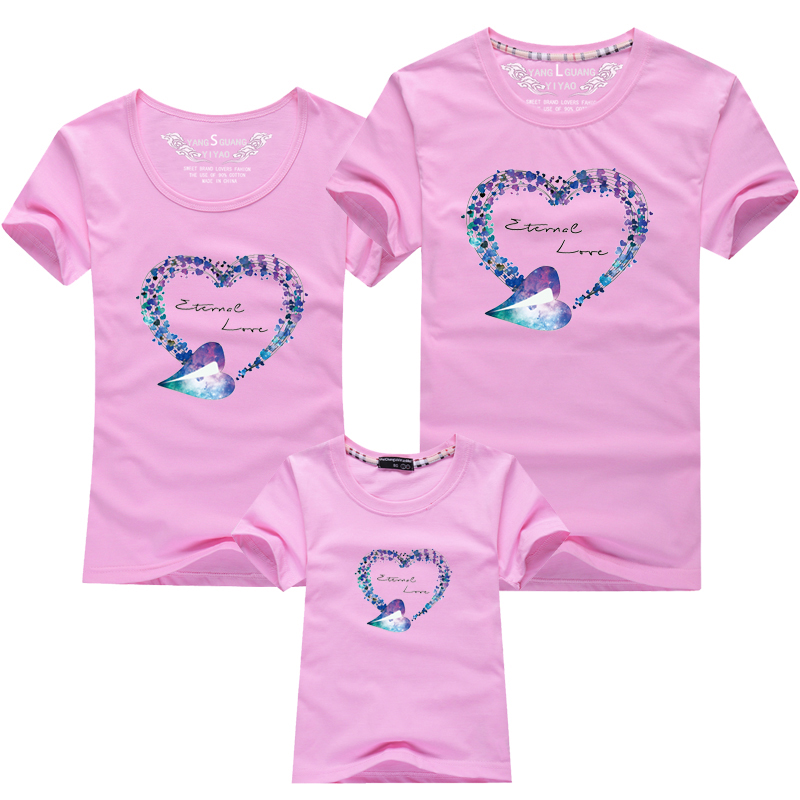 HTB1RcxbPFXXXXXtapXXq6xXFXXXW - Mommy and Me Clothes Family Look Summer LOVE Ggarland Pattern Family T Shirt Father and Son Clothes Family Matching Outfits