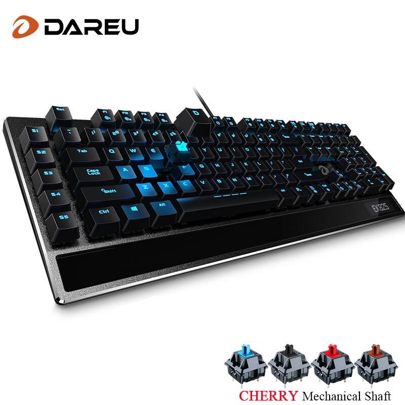 Dareu EK825 Gaming Wired Mechanical Keyboard 113 Keys Full Size With Blue Backlight Anti-Ghosting For LOL Computer Gamer Black футболка классическая printio the black keys