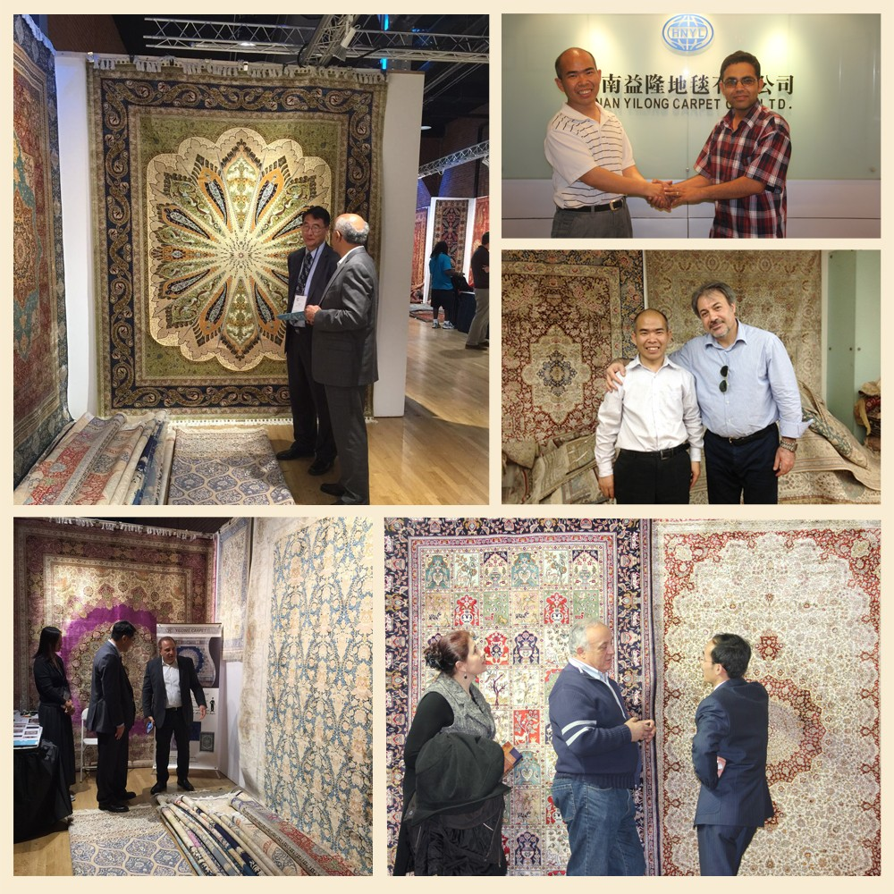 Yilong silk rug customers