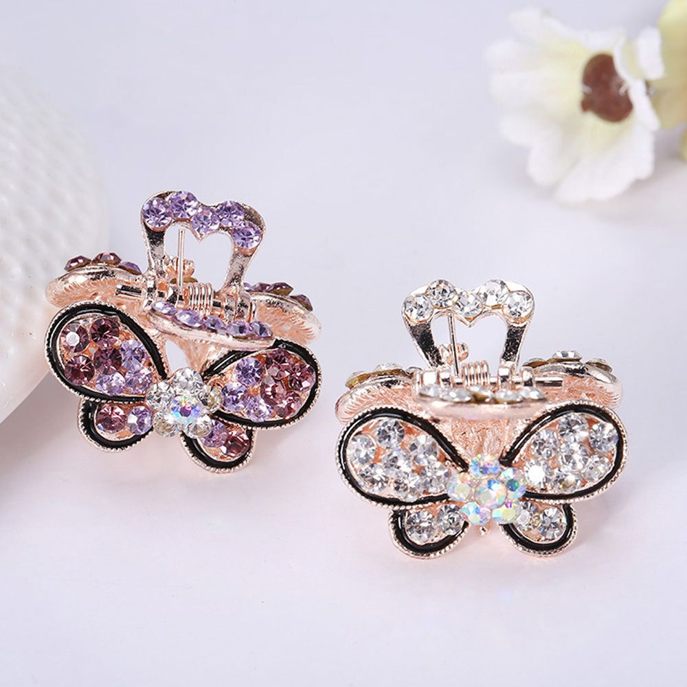 1PC Women Retro Vintage Crystal Rhinestone Mini Butterfly Crown Hairpins Hair Claws Hair Clips Barrettes Hair Accessories retro vintage women ladies girls hair clips crystal butterfly bowknot hairpins hair accessories