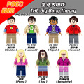 7 UNIDS PG8025 The Big Bang Theory TBBT Regalos Mejores Kits Juguetes Compatible con Lepin