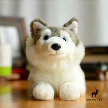 Huskies Dll   plush Animals Toys for children pilloe  Simulation Husky stuffed  Dogs Car Home Decoration Gifts