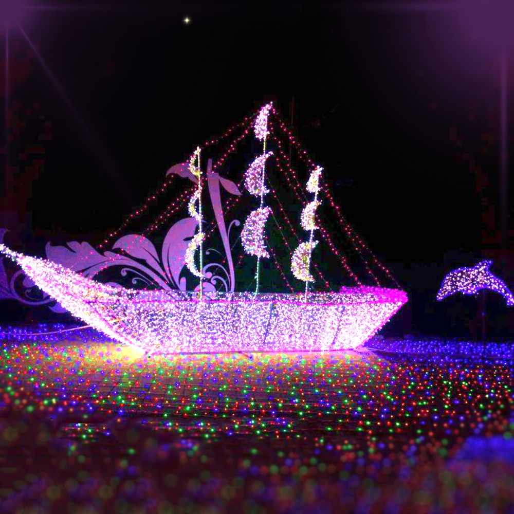100M LED String Lights Fairy Holiday Deaoration Light  AC220V Outdoor Lighting For Ramadan Christmas Wedding 600/800 LEDs JQ