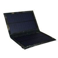 Новый Портативный Солнечный Запасные Аккумуляторы для телефонов 3 Вт складной Портативный Мощность банковскую ячейку USB Панели солнечные З...