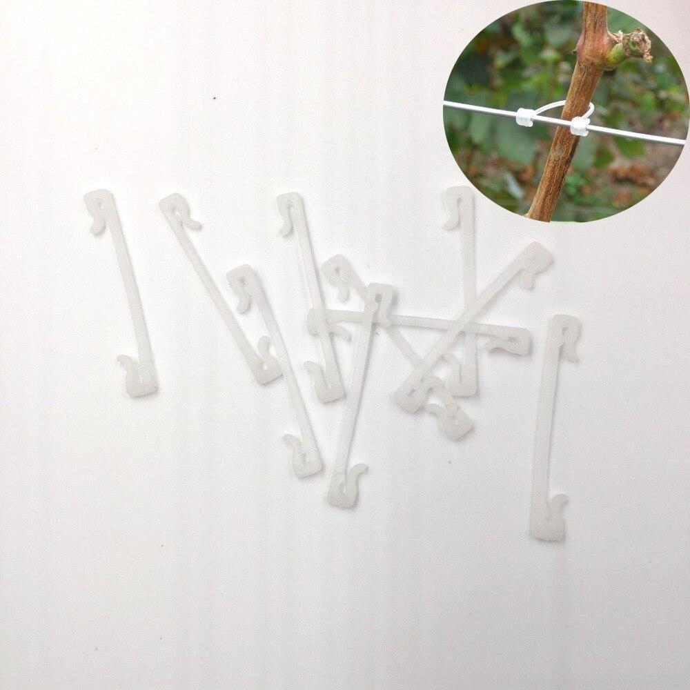 (1 pièce/lot) Clips de fronde en plastique Durable de qualité raisin attache plante vignes tomate légume buisson vrille liant Clip agricole