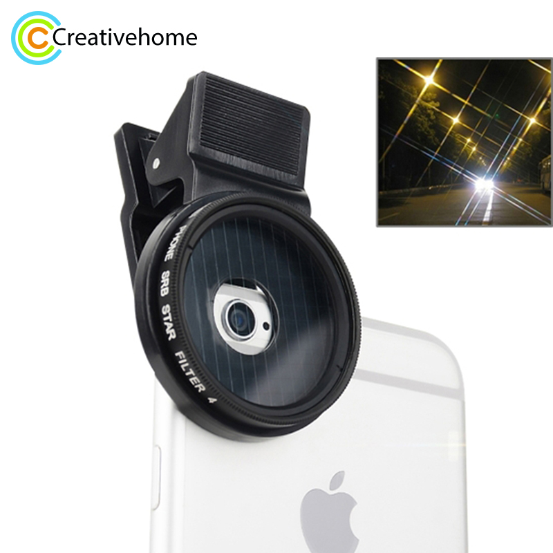 Professional 37mm Star Lens <font><b>Filter</b></font> Kit For iPhone 7 Plus 6 6S 5 5C SE Samsung HTC Sony Cell <font><b>Phone</b></font> <font><b>Camera</b></font> Lens <font><b>Filter</b></font> image