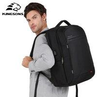 Kingsons Multifunctional USB port Charging 17.3 inch Laptop Backpack for Teenager Fashion Men Mochila Leisure Travel Backpack