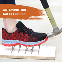 2019 New Men Shoes Slip on Work Safety Shoes Anti smashing Safety Boots Breathable Work Shoes Fashion Sneaker Men's Shoes