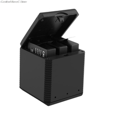 Portable QC Fast One for Three Battery Charger Storage Type Charging Box Insta360 X Sports Camera Lithium