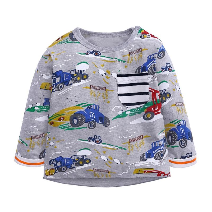fashion cartoon mini car pattern tops high quality tops for children cool sweatshirts camisas hombre manga larga 4no30 (3)