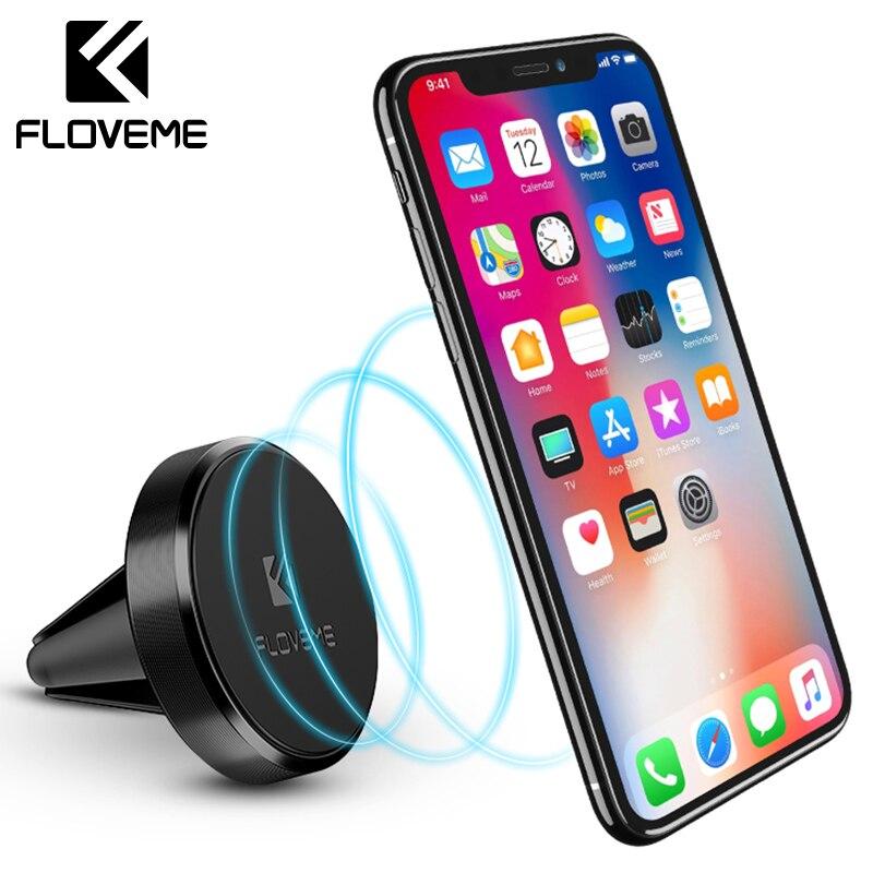 Floveme Магнитная автомобильный держатель телефона для iPhone SE 5 5S 6 6 S 7 Plus магнит мини Air Vent Outlet автомобиль-Стайлинг крепление подставкой для Xiaomi