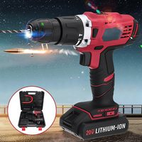 20V Lithium Ion Battery Cordless Drill Driver Power Tools Screwdriver Mini Electric Drill with Rechargeable Battery Included