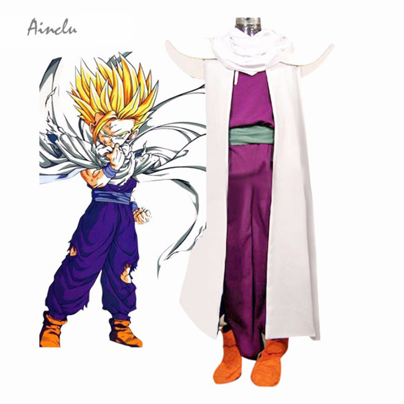 Ainclu Dragon Ball Son Gohan Piccolo Lord Super Saiyan Fighting Uniform Cosplay Costume