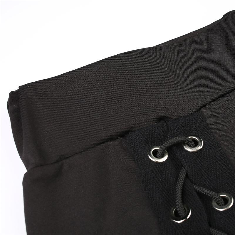 HTB1RczARVXXXXb9aXXXq6xXFXXXc - Stripe sexy side cross line Black Hole pants JKP158