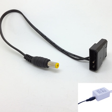 new PC 4PIN Molex 5.5mm x 2.1mm DC Power cable 12V 2A  for RGB control box LED