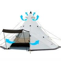 Naturehike 3 4/5 8 человек большой Семья палатка Пирамида Водонепроницаемый Открытый Отдых Пеший Туризм Треугольники палатка простой Индийский па