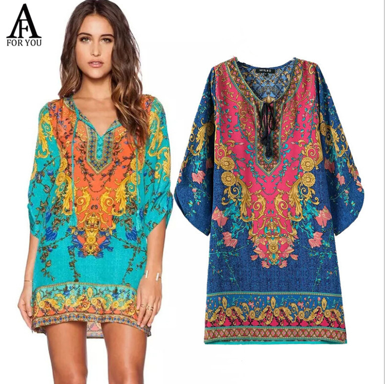 summer style Indian baroque dress Desigual Vintage summer dress 2016 vestidos women Dresses vestido de festa dress vestidos