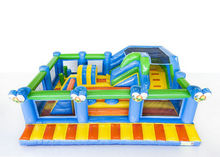PVC funcity kids inflatable bouncer commercial jumping slides