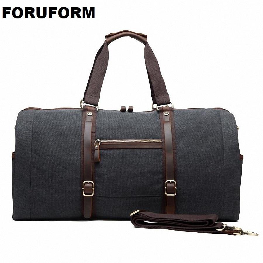 Men's Travel Bag Large Capacity Handbag Luggage Travel Duffle Bags High Quality Canvas Weekend Bags Multifunctional Travel Tote hot unisex women duffle travel luggage suitcase tote bag weekend handbag