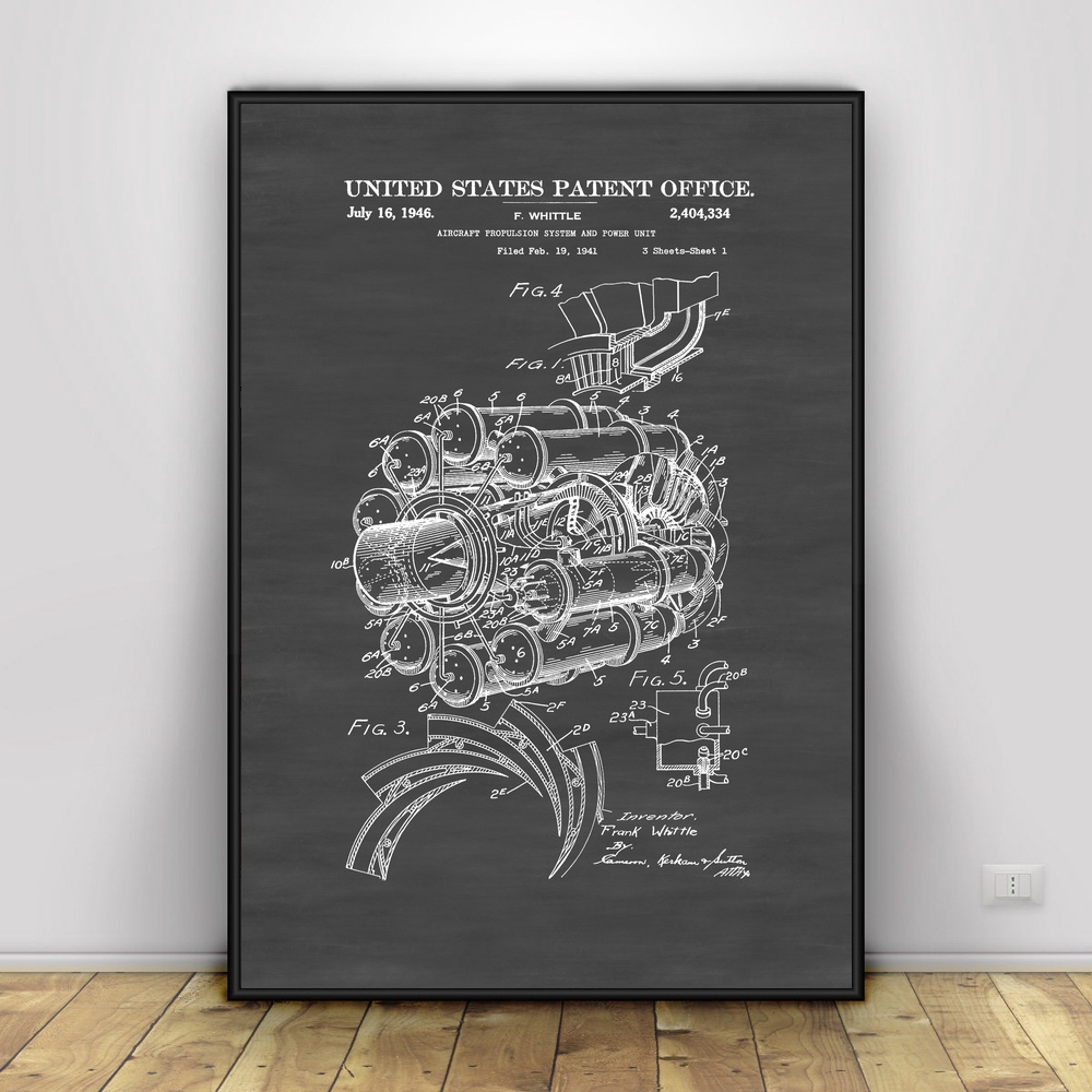 Blueprint for black power copy aircraft propulsion patent art silk blueprint for black power copy aircraft propulsion patent art silk poster home decor in painting calligraphy from home garden on aliexpress malvernweather Gallery