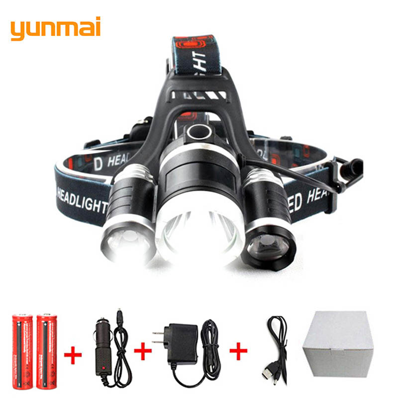 Waterproof LED Headlight XM-L T6 LED Head Lamp 4 Mode Led Headlamp Torch Light Flashlight Headlight Portable Lamp for Camp 2303 r3 2led super bright mini headlamp headlight flashlight torch lamp 4 models