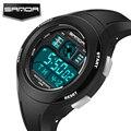 Sanda esportes dos homens da marca de luxo relógios de mergulho 30 m eletrônica digital led relógio militar homens moda casual relógio de pulso quente