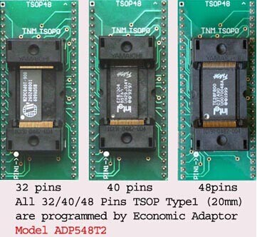 Original TNM TSOP32 40 48 ADP548T2 for all TSOP48 40 32 chips nand flash adapter socket
