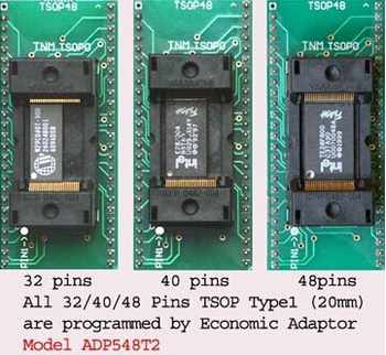 Original TNM TSOP32/40/48 ADP548T2 for all TSOP48/40/32 chips nand flash adapter socket for TNM5000 USB Universal Programmer - SALE ITEM Electronic Components & Supplies