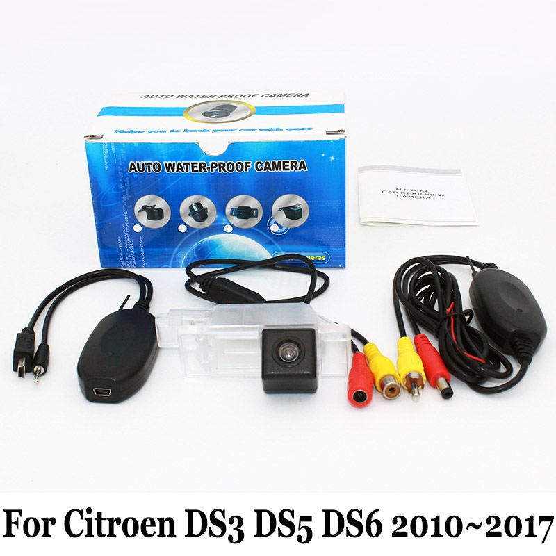 For Citroen DS 3 5 5LS 6 / DS3 DS5 DS5LS DS6 2010~2017 / RCA AUX Wire Or Wireless HD Night Vision Car Rear View Parking Camera