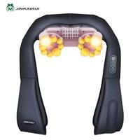 U Shape Electrical Shiatsu Back Neck Shoulder Body Massager Infrared 4D Kneading Massage EU Flat Plug
