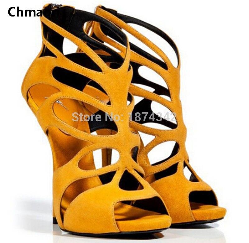 Sandalias Mujer Tenis Feminino Pretty Butterfly Women High Heels Hollow Out Zipper Gladiator Sandals 3 Colors Designal Shoes denim zipper hollow worn stiletto womens sandals