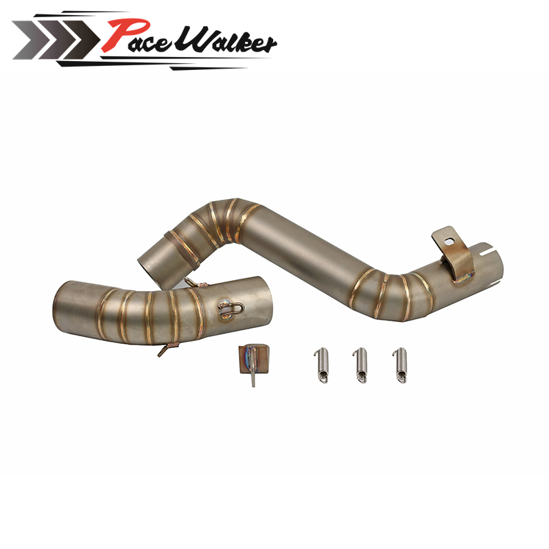 FREE SHIPPING 50.8mm Motorcycle Exhaust Middle Mid Pipe Head Connect Link Pipe For KTM200/390 Middle of motorcycle exhaust pipe duke125 duke 200 motorcycle exhaust middle pipe exhaust link pipe motorbike mid pipe for ktm duke125 duke 200 duke 250 duke 390